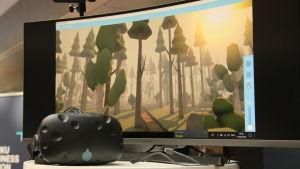Bild av den skog som syns i ett av spelen.