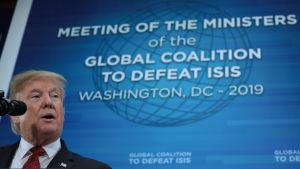 President Donald Trump vill dra bort de amerikanska styrkorna från Syrien när IS sista fäste har fallit