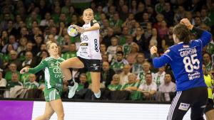 Sunniva Andersen från Vipers Kristiansand under en Champions League-match våren 2019.