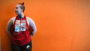 Emmeth Törrönen i gymmet.