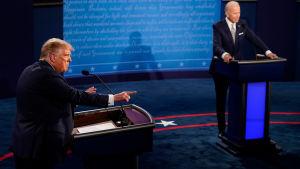Donald Trump och Joe Biden i tv-debatt 29.9.2020