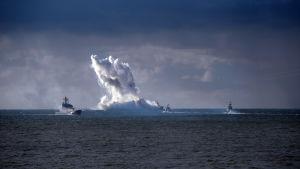 Militärmanöver vid Kaliningrads kust.