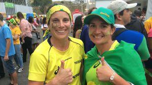 Lauren Potter och Stacey Burns från Queensland i Australien.