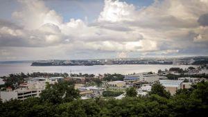 Staden Tamuning på Guam