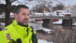 Brandmästare Petri Lyttinen vid räddningsverket i Östra Nyland