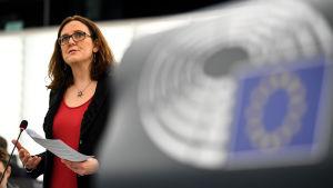 EU:s handelskommissionär Cecilia Malmström.
