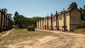 Lesbury farm ligger tre timmar utanför huvudstaden Harare, men här är man som i en annan tid.