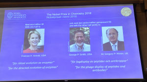 Nobelpristagarna i kemi 2018.