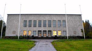 Festsalen i Nickby där fullmäktige har möten