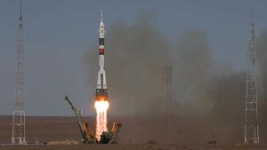 Sojuz avfyrades i  Kazakhstan.