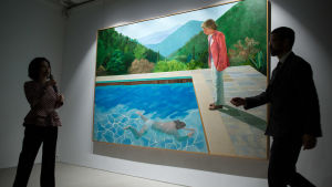 David Hockneys verk Portrait of an Artist (Pool with Two Figures)