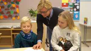 Pia Boström, Erik Gäddnäs och Elsa Laurila.