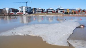 Isen har gått i Borgå å 01.04.19