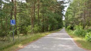 Smal, asfalterad väg på Norrskata.