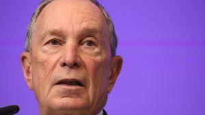 En arkivbild på Michael Bloomberg från mars 2018, då han höll ett tal om klimatfrågor i Bryssel.