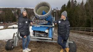Alexandra Niiranen (huvudtränare) & Katarina Koljonen (skidskoleansvarig)