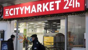 Ingång till en K-Citymarket-affär.