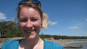 Marinbiolog Camilla Gustafsson.