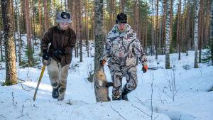 Paavo ja Johannes Lehtomäki supijahdissa.