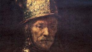 Julistekuva Berliinin Gemäldegallerian Kultakypäräisestä miehestä