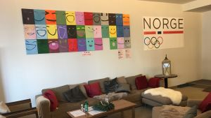 Lobbyn på Norges OS-hotell 2018.