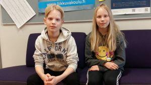 Emil och Ada går i Kimpisen koulu i Villmanstrand