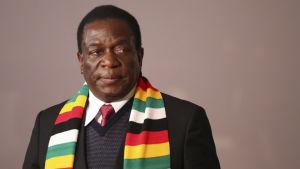 Zimbabwes president  Emmerson Mnangagwa