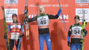 Iivo Niskanen vann sin första världscupdeltävling 2014 i Kuusamo.