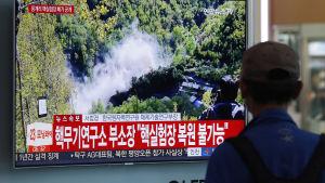 Nordkorea sprängde kärnprov området Punggye-ri i maj i fjol som en förtroendeskapande åtgärd