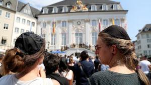 "En ""kippa-dag"" firas i Bonn, Tyskland 19.7.2018"