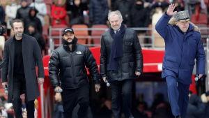 Ryska rap-artisten Timati deltar i kampanjevenemang till förmån för Vladimir Putin i mars 2018.