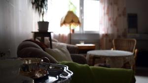 Ett vardagsrum på dagverksamheten i Ekenäs.