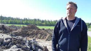 Tom Bäckström vid Ingåport.