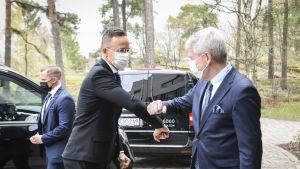 Ungerns utrikesminister Péter Szijjártó träffade Finlands utrikesminister Pekka Haavisto i Helsingfors.