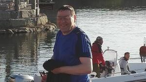 Lauri Ketonen på strandpromenaden i Kristinestad.