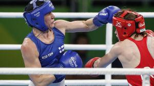 Mira Potkonen besegrade regerande OS-mästaren.