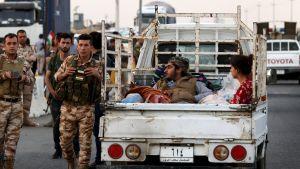 En av de familjer som valde att fly Kirkuk då staden intogs av irakiska regeringsstyrkor och shiamilis.