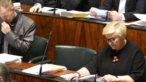 Teuvo Hakkarainen fanns inte på plats i riksdagen den 20 december.
