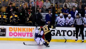 Brad Marchand spelar ishockey i Boston.