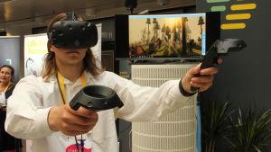 Ege Jespersen som utvecklat spelen är en av grundarna till bolaget Gonio VR.