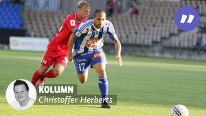 Kolumnbild från matchen HJK-Inter.