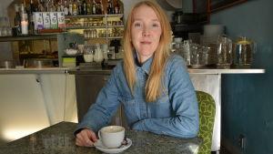Pia Lehto tog studenten vid Vasa övningsskola 2008.