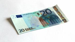 En 20-euros seel.