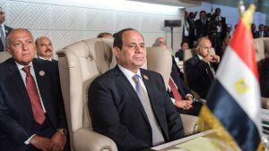 Egyptens president Abdel Fattah al-Sisi under Arabförbundets möte i Tunis den 31 mars 2019.