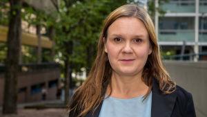 Resultatområdesdirektör Anu Karppi på enheten för asylprocessen och asylbeslut på Migrationsverket.