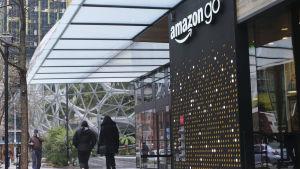 Amazon Go-butik vid företagets högkvarter i Seattle