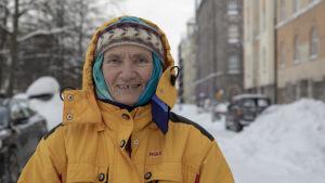 Sunniva Drage / aktivisti / Helsinki hakaniemi 14.01.2021