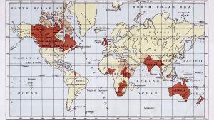 Britannian imperiumin kartta n. vuonna 1880
