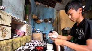 Barnarbetare i Indonesien