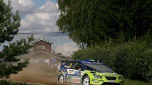 Mikko Hirvonen i Jyväskylä VM-rally